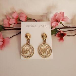Michael Kors MK Bling Dangle Earrings
